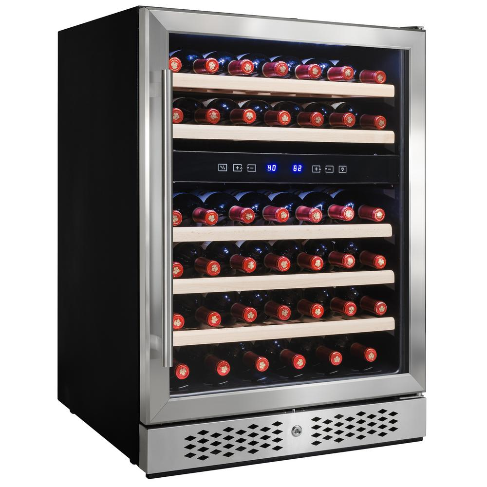 23.5 in. 46-Bottle Wine and 92-Can Built-in Compressor Beverage Cooler