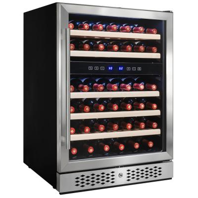23.5 in. 46-Bottle Wine and 92-Can Built-in Compressor Beverage Cooler