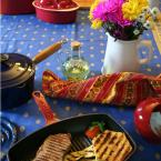Chasseur 12 in. Red Rectangular French Enameled Cast Iron Grill Pan