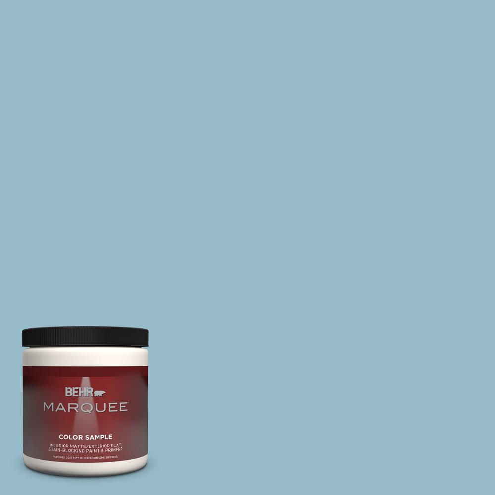 Reviews For Behr Marquee 8 Oz S480 3 Sydney Harbour One Coat Hide Matte Interior Exterior Paint Primer Sample Mq30016 The Home Depot
