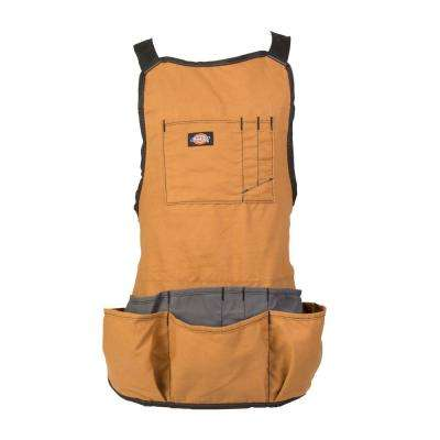 16-Pocket Light-Weight Tool / Work Bib Apron, Tan
