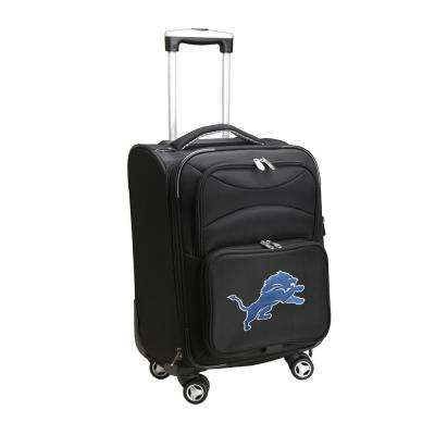 NFL Detroit Lions 21 in. Black Carry-On Spinner Softside Suitcase