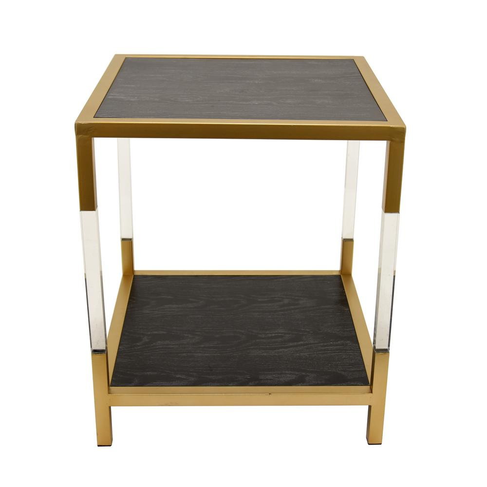 23 in. Black Accent Table