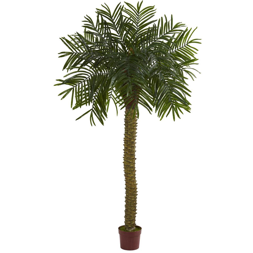 nearly natural 7 ft uv resistant indoor outdoor prickly palm artificial tree 5514 the home depot. Black Bedroom Furniture Sets. Home Design Ideas