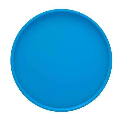 14 in. Round Serving Tray in Process Blue