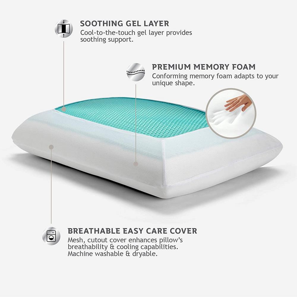 Sealy Memory Foam Standard Gel Pillow