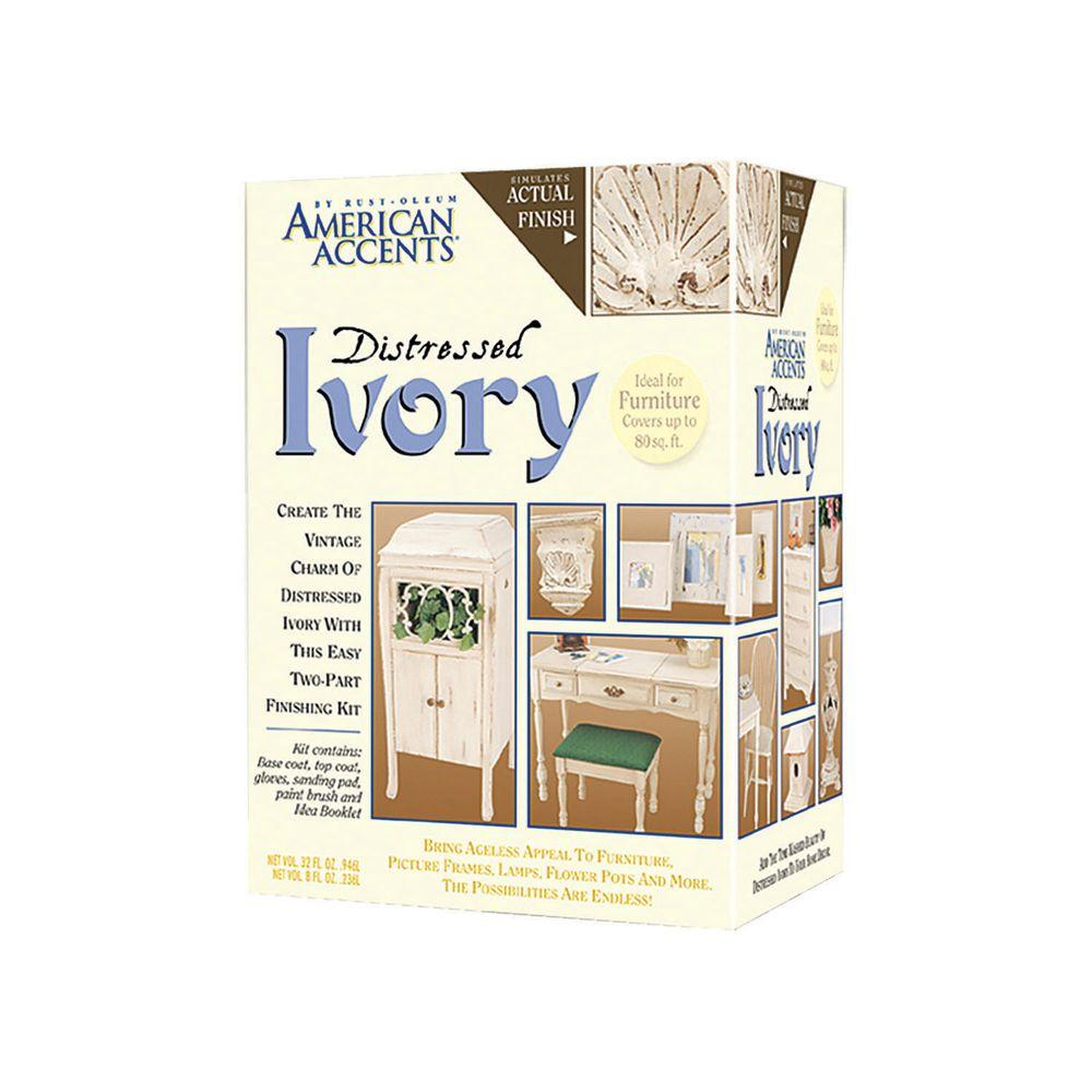 Rust-Oleum American Accents Distressed Ivory Finish Kit (3-Pack) - Rust-Oleum American Accents Distressed Ivory Finish Kit (3-Pack