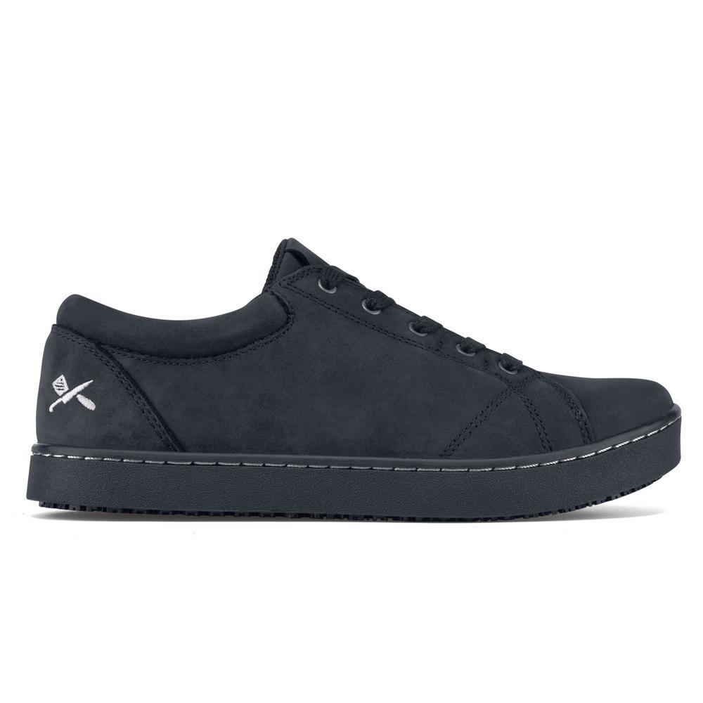 9973a7f09ff9 MOZO Mavi Women s Size 9M Black Leather Slip-Resistant Work Shoe ...