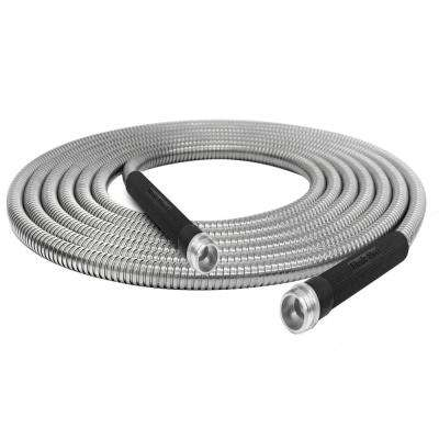1/2 in Dia. x 100 ft. Heavy-Duty Stainless Steel Garden Hose