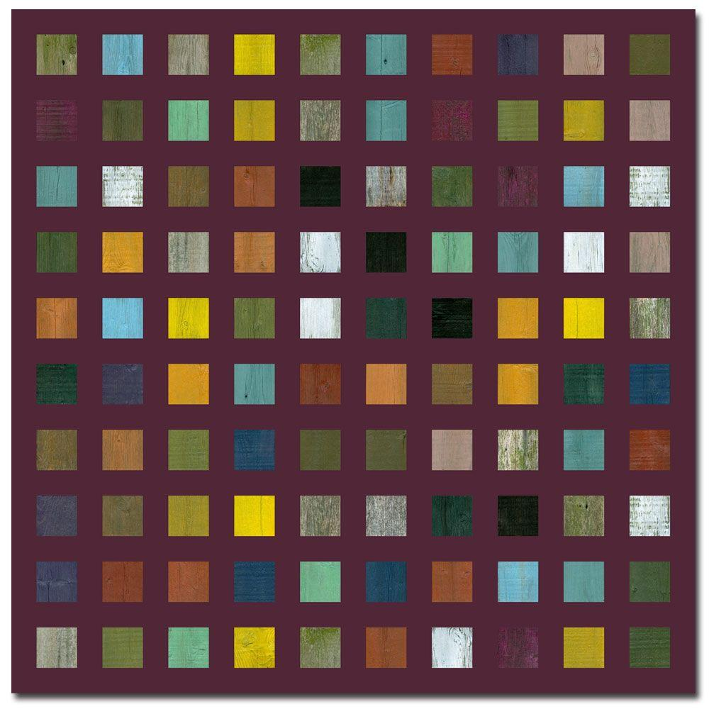 Trademark Fine Art 35 in. x 35 in. Rustic Wooden Abstract IX - Brown - Canvas Art
