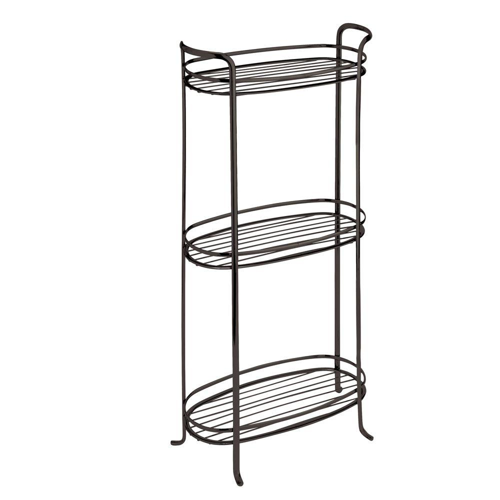 interdesign axis 3-tier shelf in bronze-55693