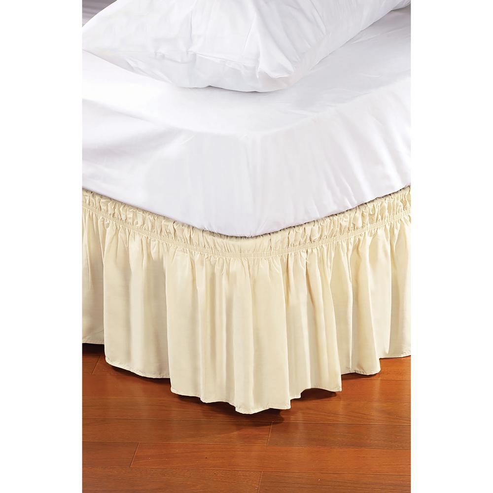 Beige Queen/King Bed Ruffle