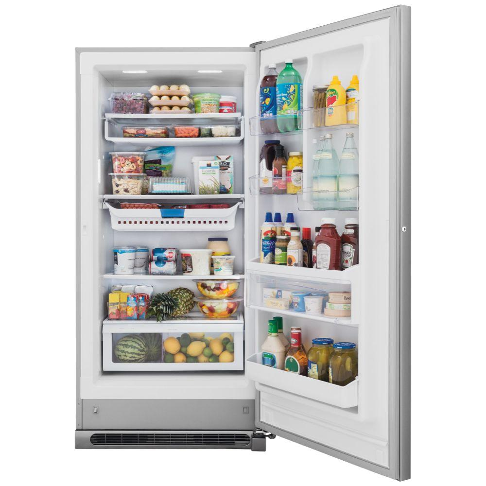 Frigidaire Gallery 20 5 Cu Ft Frost Free Upright Freezer Convertible To Refrigerator In Stainless Steel Energy Star