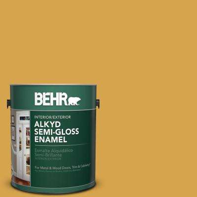1 gal. #M290-6 Plantain Chips Semi-Gloss Enamel Alkyd Interior/Exterior Paint