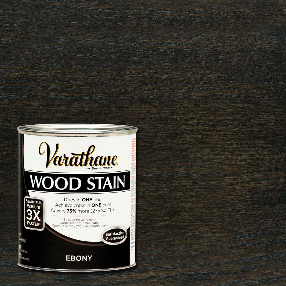 Varathane 1 qt. 3X Ebony Premium Wood Stain (Case of 2)