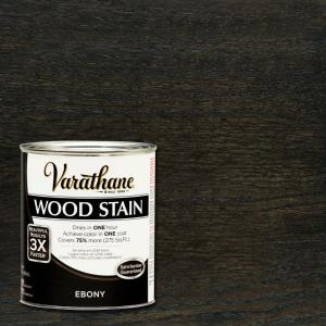 3X Ebony Premium Wood Stain 266256   The Home Depot