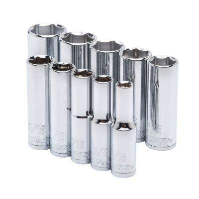 3/8 in. Drive Deep SAE Socket Set (10-Piece)