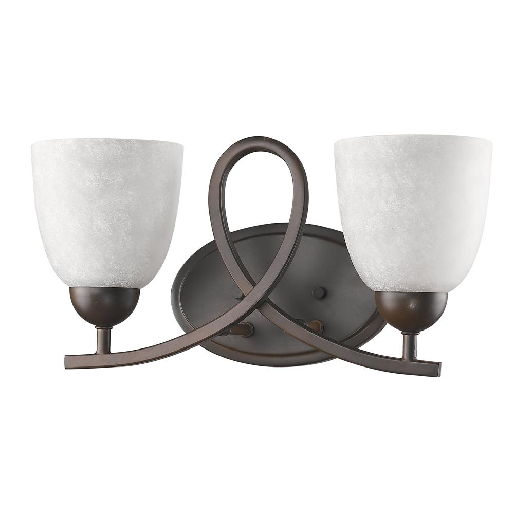 Acclaim Lighting Toulouse 2-Light Oil-Rubbed Bronze Vanity Light with Scavo Glass Shades