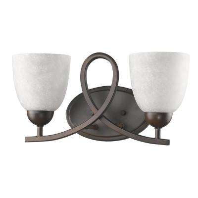 Toulouse 2-Light Oil-Rubbed Bronze Vanity Light with Scavo Glass Shades