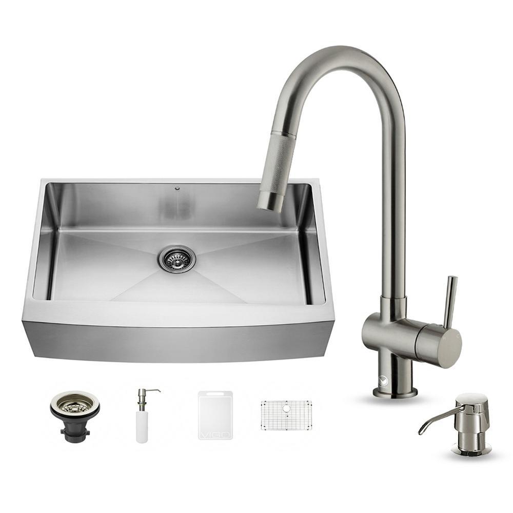 Vigo Stainless Steel Pull Down Kitchen Faucet
