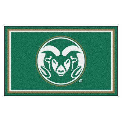 NCAA - Colorado State University Green 6 ft. x 4 ft. Indoor Rectangle Area Rug