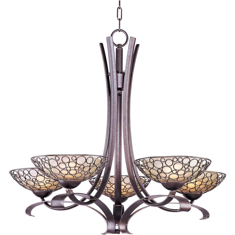 Meridian 5-Light Umber Bronze Chandelier