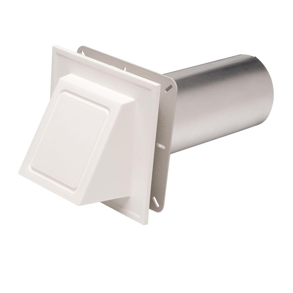 Ply Gem 6-3/4 in. x 6-3/4 in. White Hooded Dryer Vent