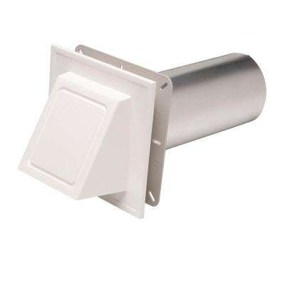 6-3/4 in. x 6-3/4 in. White Hooded Dryer Vent
