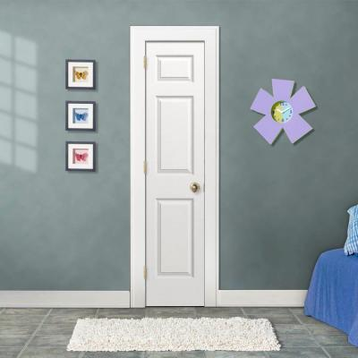 18 in. x 80 in. Colonist White Painted Right-Hand Textured Molded Composite MDF Single Prehung Interior Door