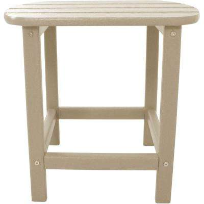 Sand All-Weather Patio Side Table - Plastic Patio Furniture - Beige - Patio Tables - Patio Furniture