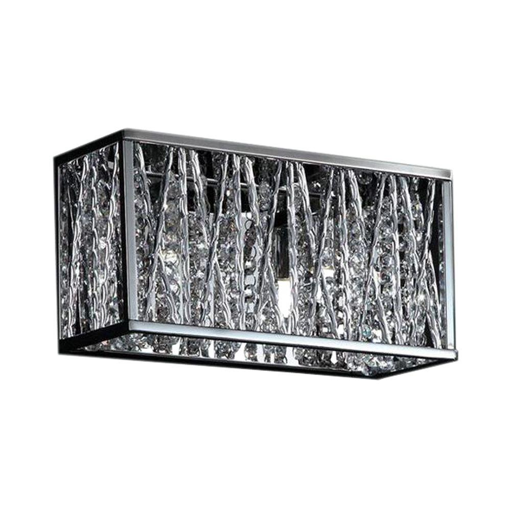 Filament Design Lawrence 2-Light Chrome Halogen Bath Vanity Light