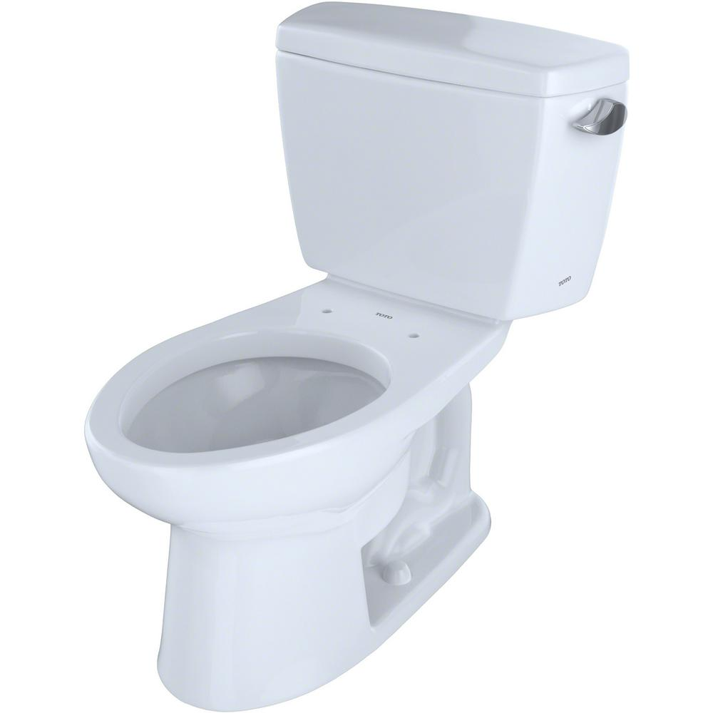 TOTO Eco Drake 2-Piece 1.28 GPF Single Flush Elongated Toilet with CeFiONtect and Right Hand Trip Lever in Cotton White