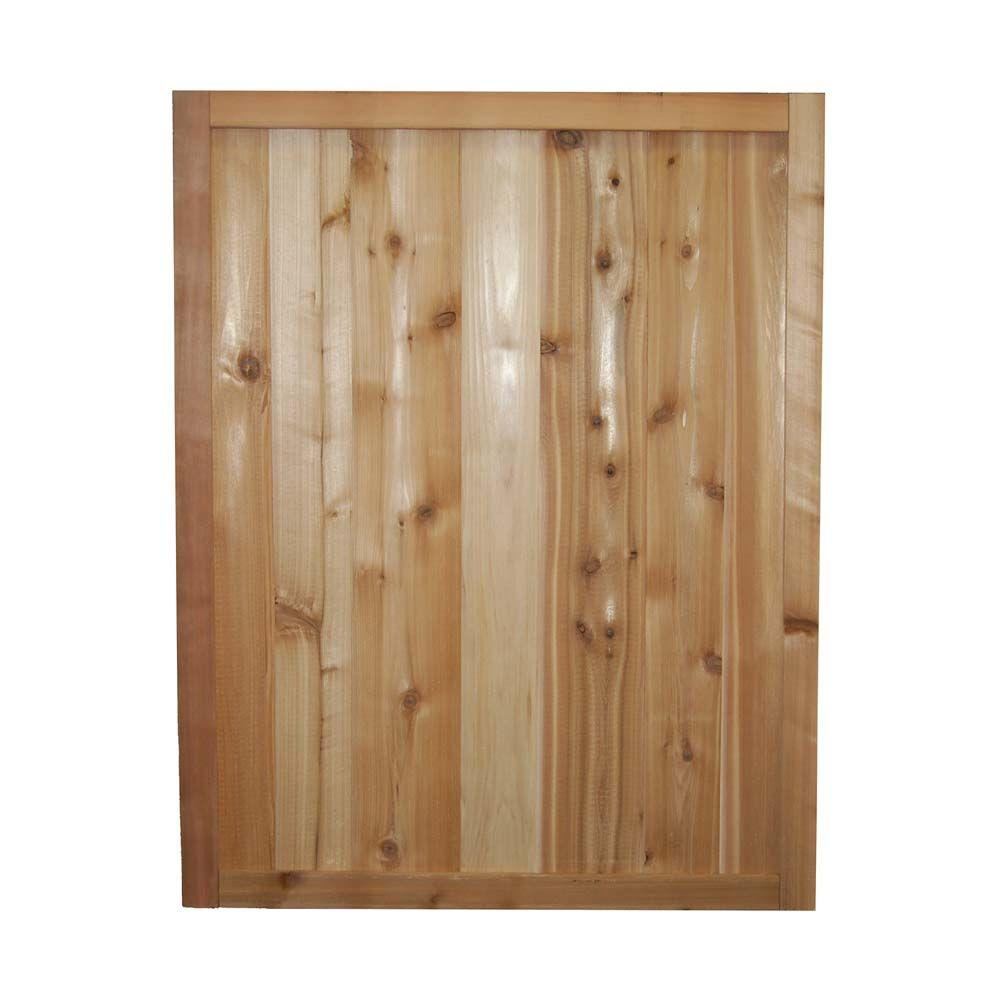 Signature Development 3 ft. x 2.5 ft. Western Red Cedar Solid Tongue and Groove Fence Panel