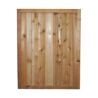 3 ft. x 2.5 ft. Western Red Cedar Solid Tongue and Groove Fence Panel