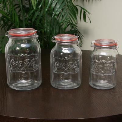 Country Classic 3-Piece Glass Preserving and Storage Jar Set with Wire Ball and Trigger Closure