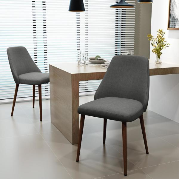 Marlee Light Grey Fabric Dining Chairs (Set of 2)