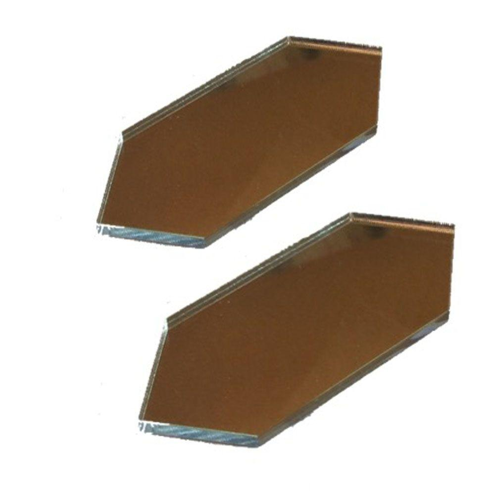 MirrEdge Acrylic Mirror Seam Cover Plates (2-Pack)