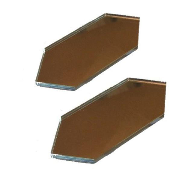 3 in x 1.5 in. Acrylic Mirror Seam Cover Plates (2-Pack)