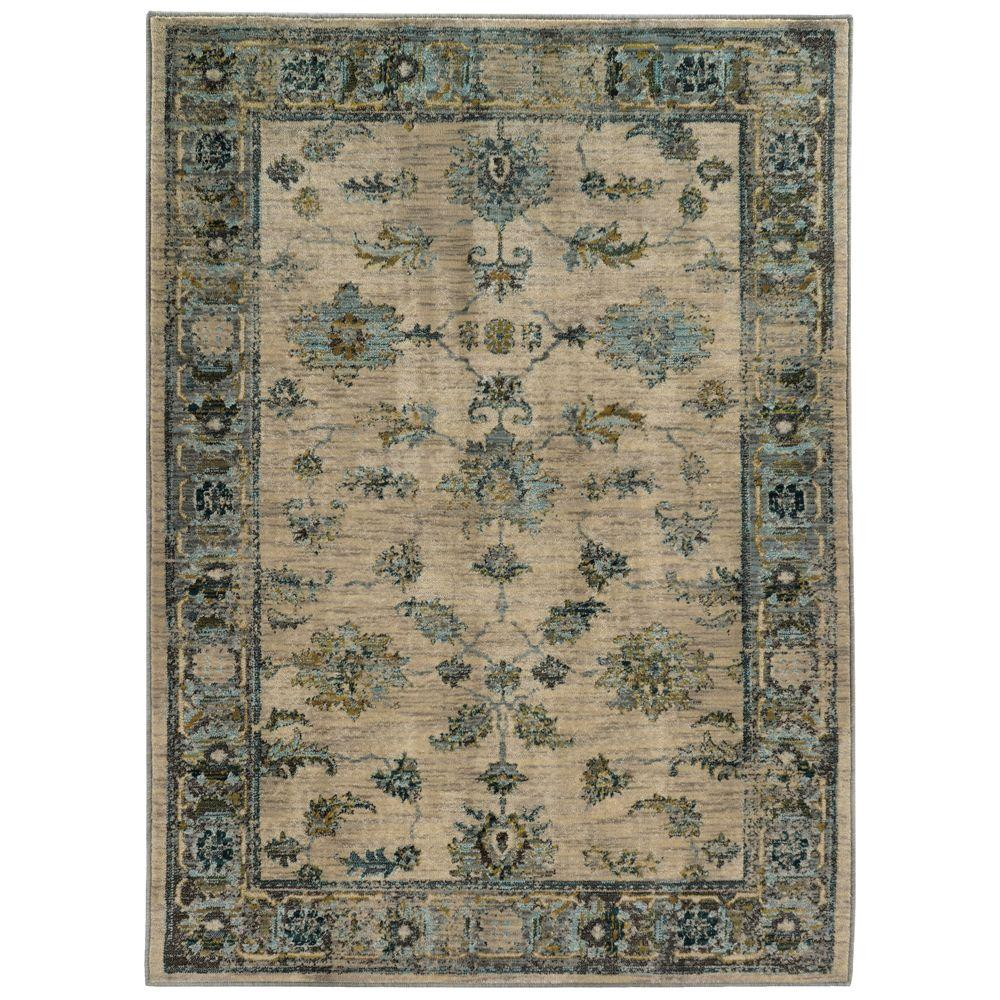 Chandler Beige 7 ft. 10 in. x 10 ft. 10 in. Area Rug