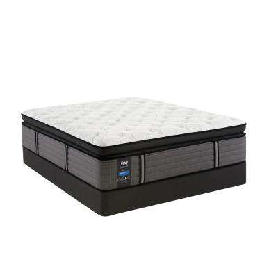 Response Premium 16 in. King Cushion Firm Euro Pillowtop Mattress Set with 9 in. High Profile Foundation