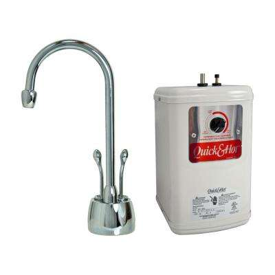 2-Handle Hot and Cold Water Dispenser Faucet with Heating Tank in Polished Chrome