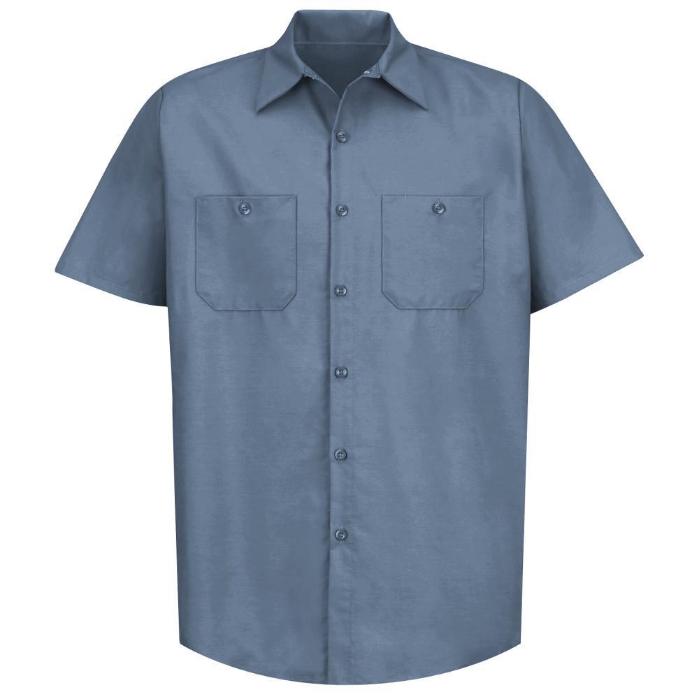 Men's Size M Postman Blue Industrial Work Shirt
