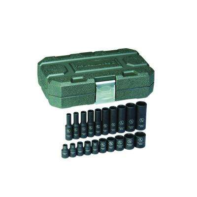 1/4 in. Drive SAE Impact Socket Set (20-Piece)