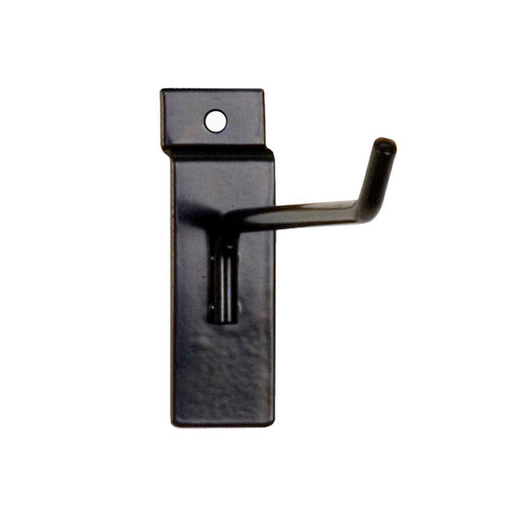 6 in. L x 1/4 in. Wire Slatwall Hook, Black (100-Pack)