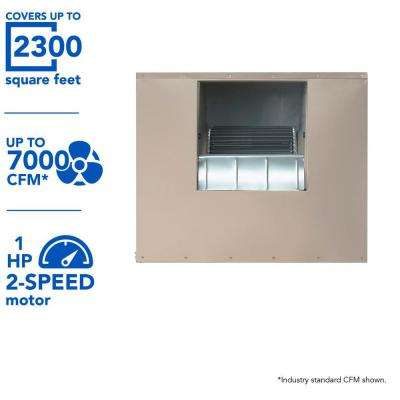 7000 CFM 240-Volt 2-Speed Side-Draft Wall/Roof 8 in. Media Evaporative Cooler for 2300 sq. ft. (with Motor)