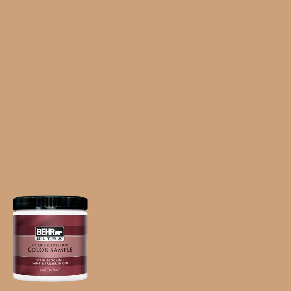 BEHR ULTRA 8 oz  #UL140-19 Kenya Matte Interior/Exterior Paint and Primer  in One Sample