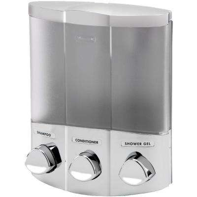 Trio Corner Dispenser in Satin Silver