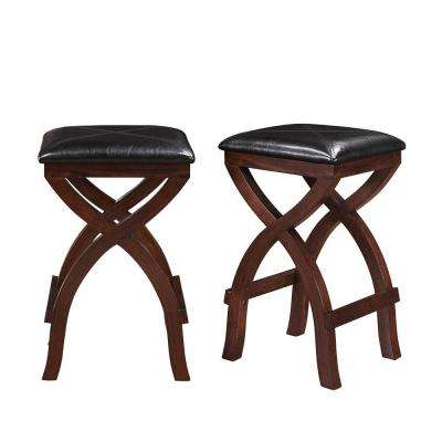 Tarantino 24 in. Espresso Cushioned Bar Stool (Set of 2)