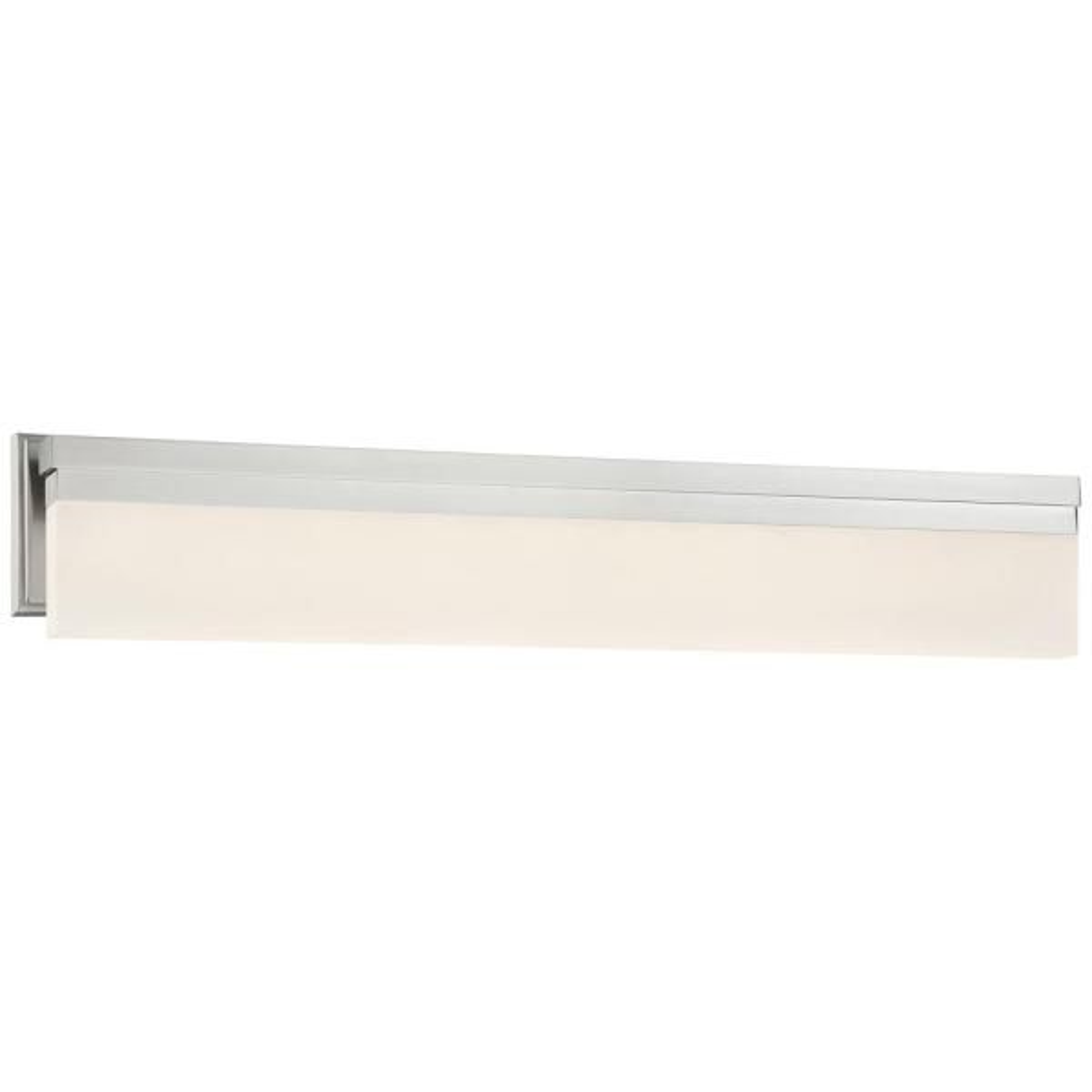 Skinny 57-Watt Brushed Nickel Integrated LED Bath Light