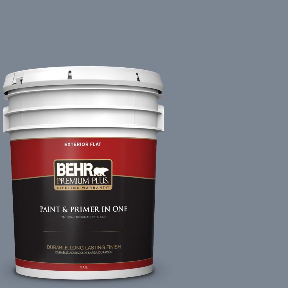 5 gal. #PPU14-05 Forever Denim Flat Exterior Paint